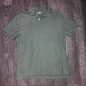 Forest green mens polo